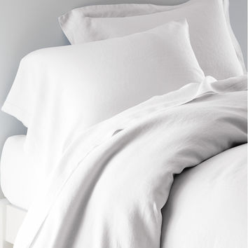 Eileen Fisher Washed Linen Bedding | Garnet Hill