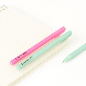 4X Simple Sunshine Macaron Color Bling Gel Pen Writing Signing School Office Supply Student Stationery Rewarding Kids Gift