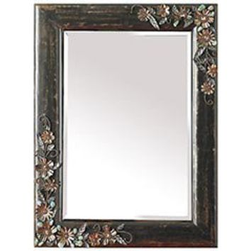 Product Details - Jeweled Flowers Mirror