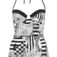 Black And White Spiro Swimsuit - Swimwear  - Clothing