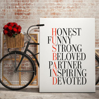 HUSBAND valentines for him anniversary gift for husband birthday gift for men from wife bride home decor poster Love Poster Typography Print