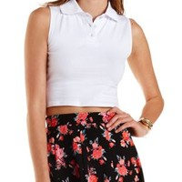 Sleeveless Cropped Polo Shirt by Charlotte Russe