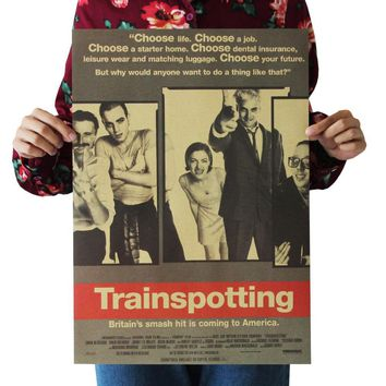 Trainspotting /Ewan McGregor/classic movie film poster/kraft paper/bar poster/Retro Poster/decorative painting 51x35.5cm