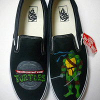 Teenage Mutant Ninja Turtles Hand Painted Custom Vans Shoes