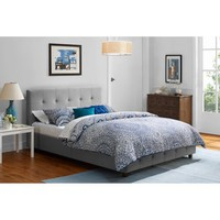 Rose Linen Upholstered Bed, Grey, Multiple Sizes - Walmart.com
