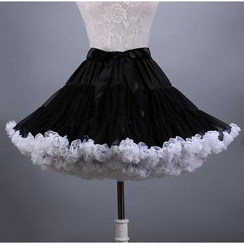 2016 new fashion fluffy Teenage girl Adult women pettiskirt tutu Women tutu Party dance adult skirt
