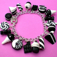 Monochrome Kawaii Loaded Sweets and Desserts by KooKeeJewellery