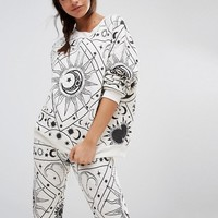 Wildfox Moon Astrology Pyjama Sweater at asos.com