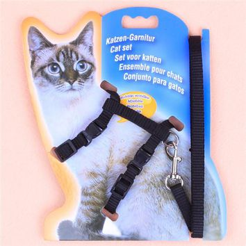 Adjustable Nylon Rope with Walking Chest Strap For Cat and Small Dog