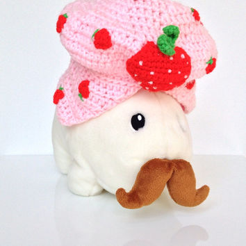Vintage Handmade Strawberry Shortcake Bonnet