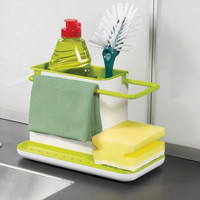 Useful 3 IN 1 Glove Plastic Racks Organizer Caddy Storage kitchen organizer Sink Utensils Holders Drainer tableware Towel Rack