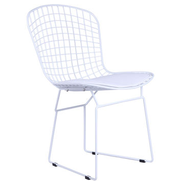 White Wire Side Chair, White