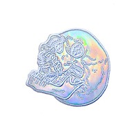 Holographic Laughing Skull Patch