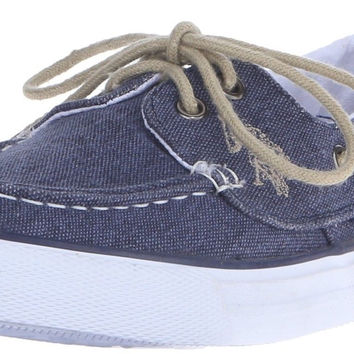 U.S. Polo Assn.(Women's) Women's Mate Boat Shoe Navy Washed Denim 8.5 B(M) US