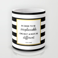Coco Gold Fashion Quote Mug by Poppy Loves To Groove