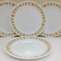 Vintage Corelle Butterfly Gold Dinner Plates