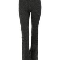 LE3NO Womens Stretchy Fold Over Waist Full Length Yoga Pants