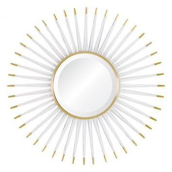 Acrylic & Brass Starburst Mirror
