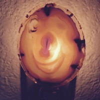 Kitchen Nightlight-agate available in blue,purple and more. Made in USA by disabled Veteran.