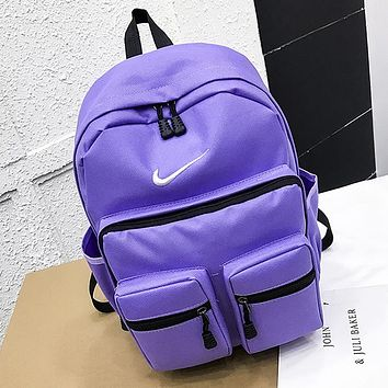 NIKE Summer Popular Sport College Shoulder Bag Travel Bag School Backpack Purple