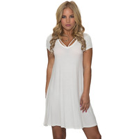 Made For Me Jersey Dress In White
