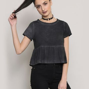 SWEET TREAT CROP TOP - BLACK