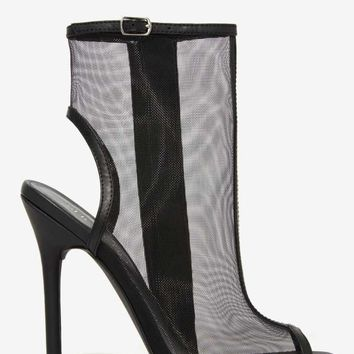 Nasty Gal Sheer Madness Mesh Heel - Black