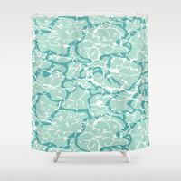 Water Camo Shower Curtain by Heather Dutton