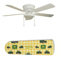 "Classic John Deere 52"" Ceiling Fan with Lamp"