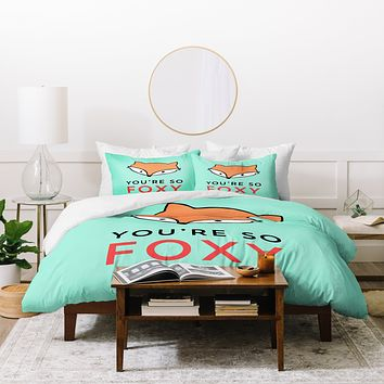 Allyson Johnson You are so foxy Duvet Cover
