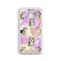 Phone Case Corgi Watercolor Pattern for Samsung Galaxy S4, S5, S6, S6 EDGE, S6 EDGE Plus, S7 and S7 EDGE
