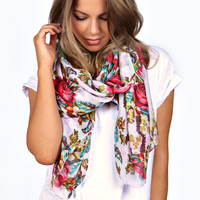 Anna Tapestry Floral Lightweight Scarf