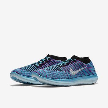 The Nike Free RN Motion Flyknit Women's Running Shoe.