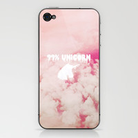 99% Unicorn iPhone & iPod Skin by Sara Eshak