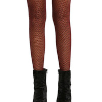 Blackheart Red & Black Micro Net Tights