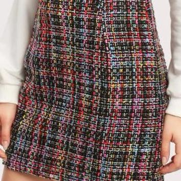 Kinsley Multi-Color Tweed Mini Skirt