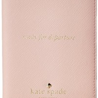 kate spade new york Cedar Street Passport Holder Wallet, Rose Jade, One Size