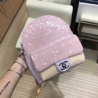 Double C Pastel Colored Mini Backpack