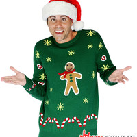 Gingerbread Snack Christmas Adult Sweater