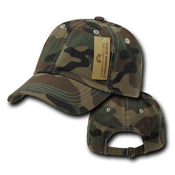 Classic Vintage Style US Military Woodland Camo Hat Hunting Caps