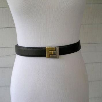 Fendi Vintage Leather Belt - Beauty Ticks