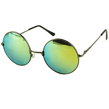 Green Round Lens Sunglasses