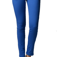 Royal Blue Color Denim Skinny Jeans