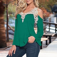 Trendy Autumn Over The Shoulder Top