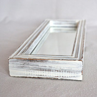White Distressed Shabby Chic Rectangle Mirror