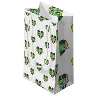 Happy Mardi Gras Logo Small Gift Bag