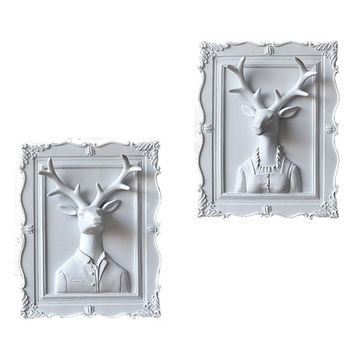 3D Framed Deer Art