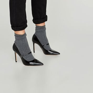 SOCK-STYLE HIGH HEEL COURT SHOES DETAILS