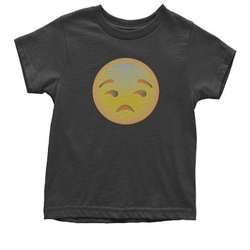 (Color) Emoticon - Sad Face Smiley Youth T-shirt