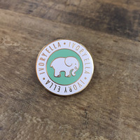 Mint Ella Medallion Pin